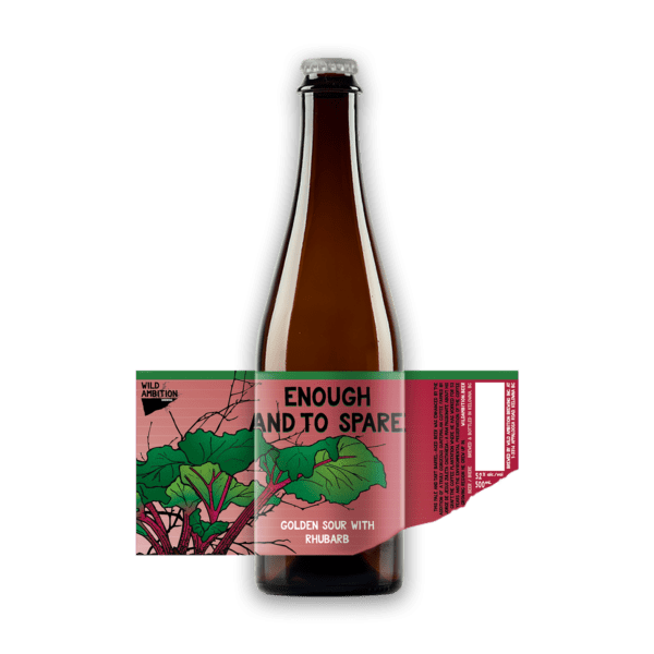 Enough and to Spare Golden Sour with Rhubarb | Wild Ambition Brewing