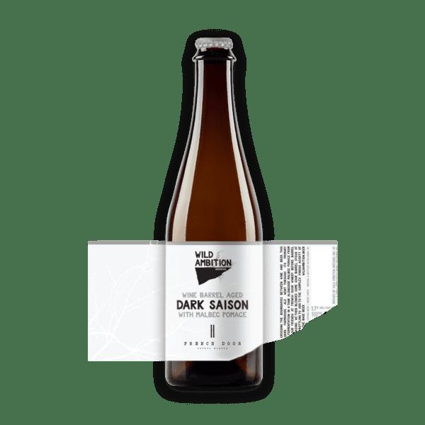 Dark Saison with Malbec Pomace | Wild Ambition Brewing