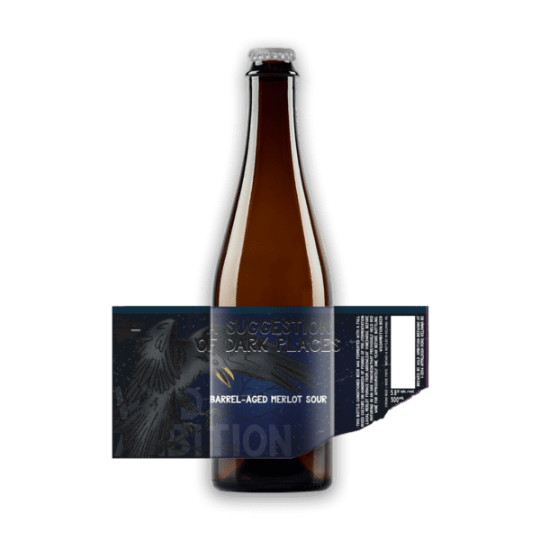 A Suggestion of Dark Places Barrel Aged Merlot Sour   Wild Ambition Brewing