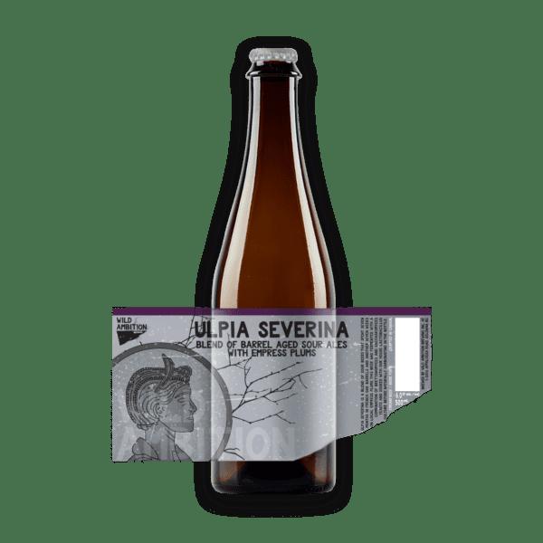 Ulpia Severina Barrel Aged Plum Sour   Wild Ambition Brewing