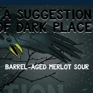 A Suggestion of Dark Places  Barrel Aged Merlot Sour