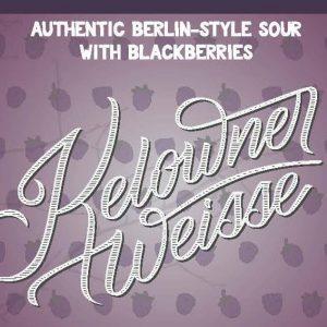 Blackberry Kelowner Wiesse  Authentic Berlin-Style Sour with Blackberries