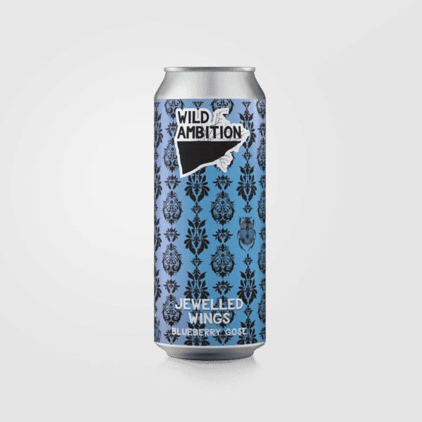 Jewelled Wings Blueberry Gose   Wild Ambition Brewing